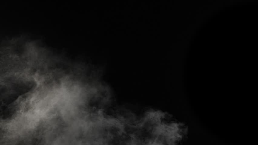 Slow motion of realistic smoke effect on black background | Shutterstock HD Video #1008551275