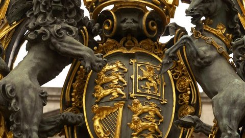 Gate at Buckingham Palace, London, England, detail