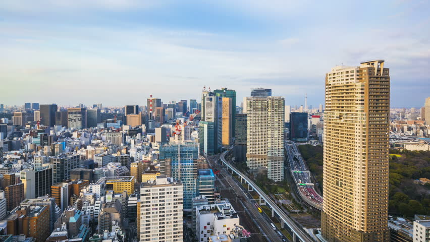 Time Lapse of Tokyo Cityskyline in Japan. | Shutterstock HD Video #1008567025