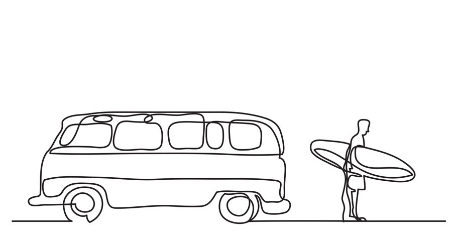 One Line Art Animation : Stockvideo af animation of one line drawing
