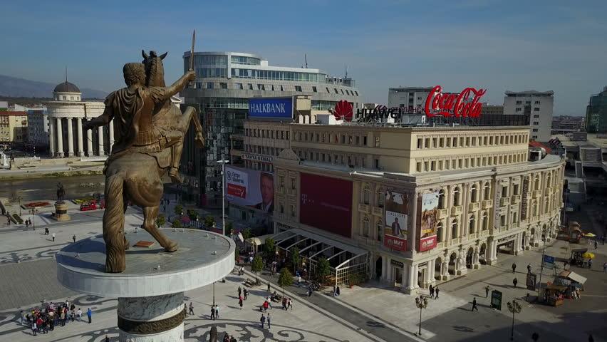 Image result for alexander the great statue skopje coca cola