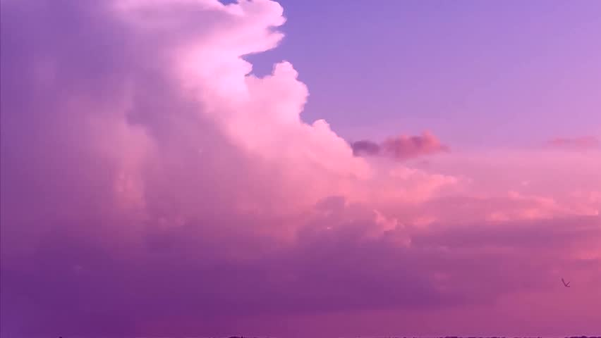 Red purple orange blue pink sunset sky cloud Red purple cloudscape time lapse background, Cloud chenge colors in sunny day, orange,pink cloud, blue rain cloud in bad weather.