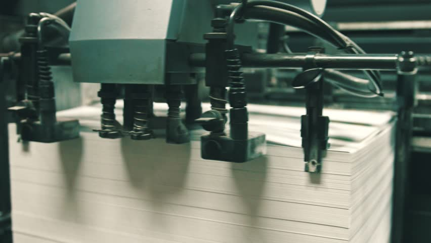 Machine working in printing house, polygraph industry | Shutterstock HD Video #1008831725