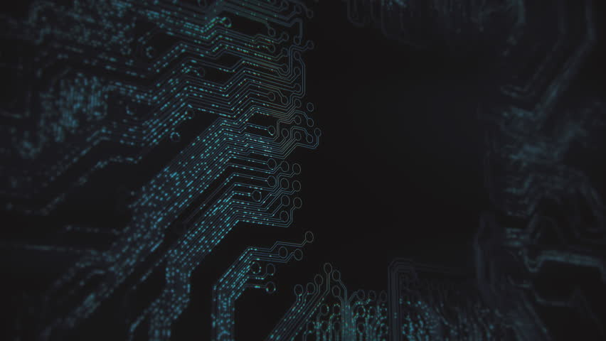 Abstract circuit board animation. 4K UHD. | Shutterstock HD Video #1008878765