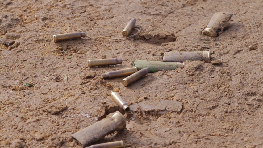 bullet shells drop on the ground