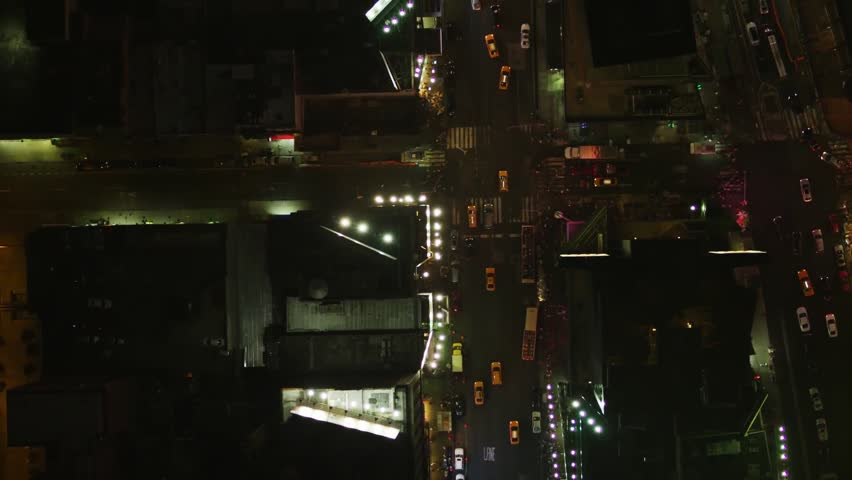 Aerial wide shot of the traffic jam in slow motion downtown New York | Shutterstock HD Video #1008903365