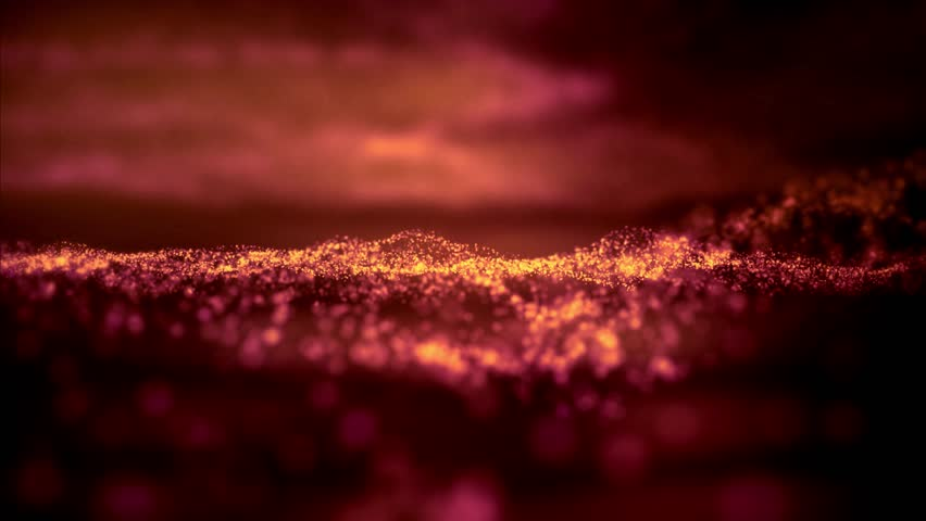 Golden abstract background. ambient abstract bokeh particles background.Seamless loop. More colors available - check my portfolio. 4k animation.