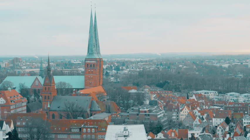 view of Lubeck from the Saint Petri Church