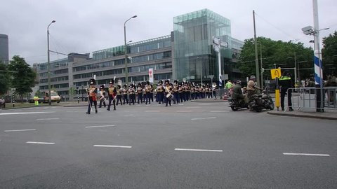 "The Hague,  South Holland / The Netherlands - June 24 2017 - Dutch Veterans' Day Parade also known as ""Veteranendag Den Haag"""