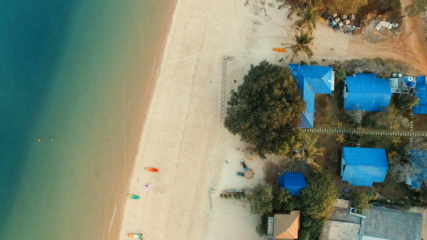 aerial view of sea beach in payam island ranong andaman sea southern of thailand