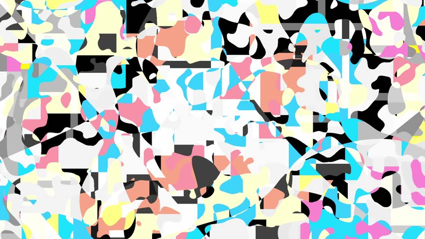 Moving geometric shapes. Transformation colorful squares. Seamless looping footage.   Shutterstock HD Video #1009098785