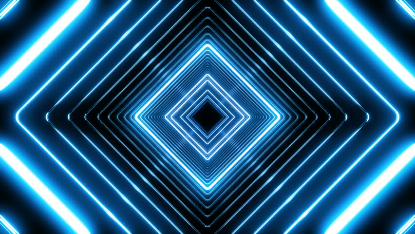Beautiful Abstract Square Tunnel with Blue Light Lines Moving Fast. Set of Several Video Elements. Background Futuristic Tunnel with Neon Lights. Looped 3d Animation Art Concept. 4K Ultra HD 3840x2160 | Shutterstock HD Video #1009201025
