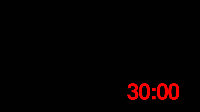 Countdown Clock (25fps) from 30s Stock Footage Video (100% Royalty-free)  1009230365 | Shutterstock