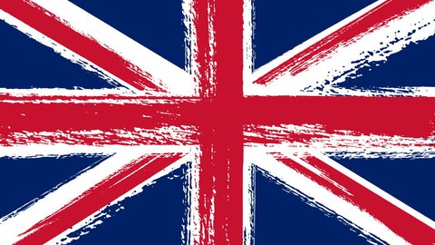 Drawing of Flag of the United Kingdom Of Great Britain and Northern Ireland (Union Jack) by Brush Strokes