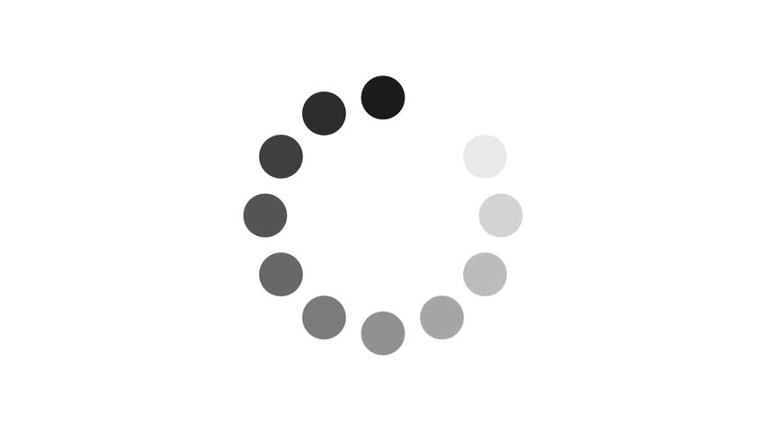 Loading circle icon on white background animation with alpha channel. | Shutterstock HD Video #1009250975
