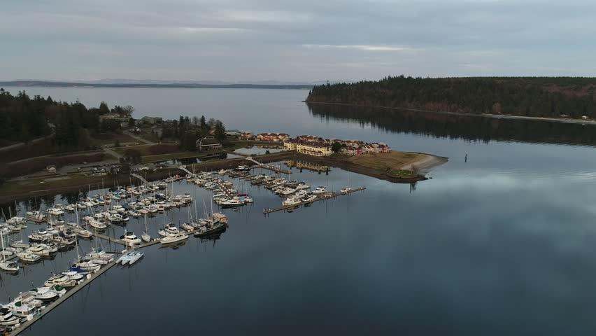 Port Ludlow marina & Resort on the Puget Sound
