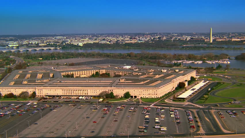 WASHINGTON DC - CIRCA 1990s - 1990s - Aerial over the Pentagon in Washington D.C.