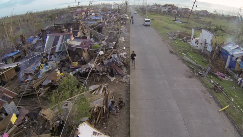 Drone footage Typhoon Haiyan Philippines | Shutterstock HD Video #1009456325