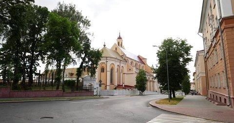 Grodno, Belarus. View Of Bernardine Monastery At Summer Day.