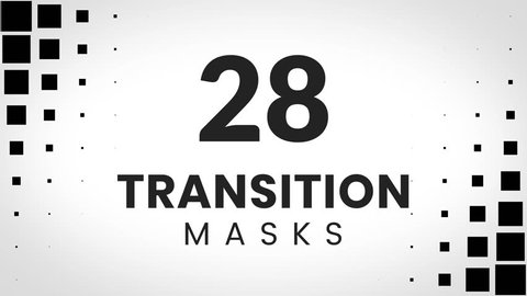 28 transition masks. Blocky pattern. Perfect pack for stylish and trendy presentation.