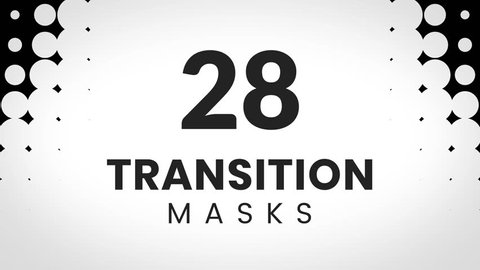 28 transition masks. Dotted texture. Can be used for trendy business presentation and custom slides revealing animation.