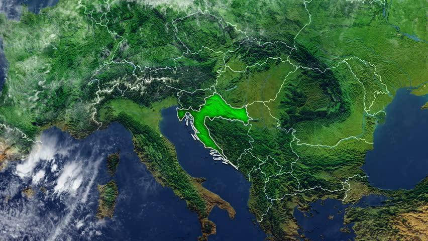 CROATIA DIGITAL MAP