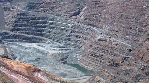 Mining Trucks in the Gold Mine, Kalgoorlie Boulder, Super Pit, Western Australia, Australia