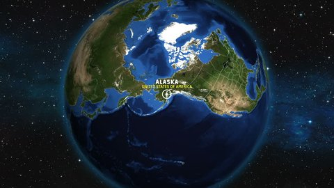 ALASKA Map USA - Earth Zoom