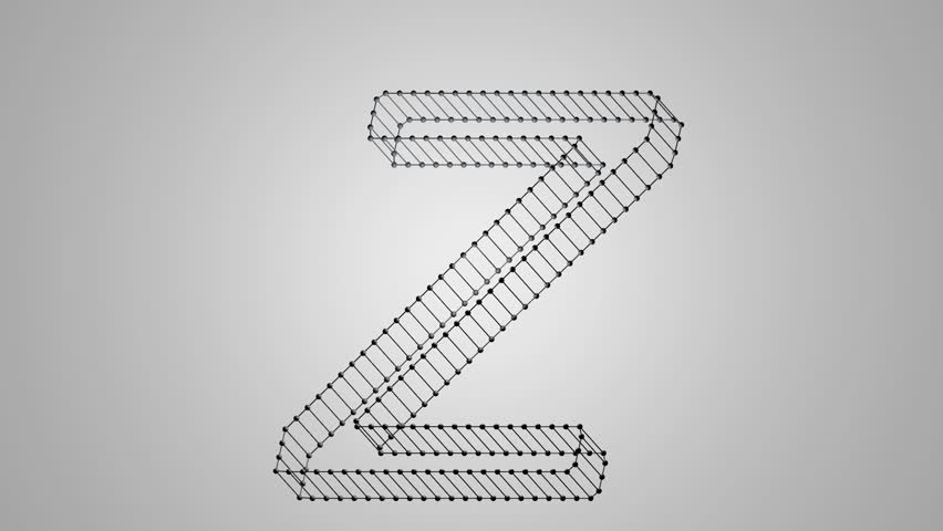 Animation of letter Z, seamless looping | Shutterstock HD Video #1009690745