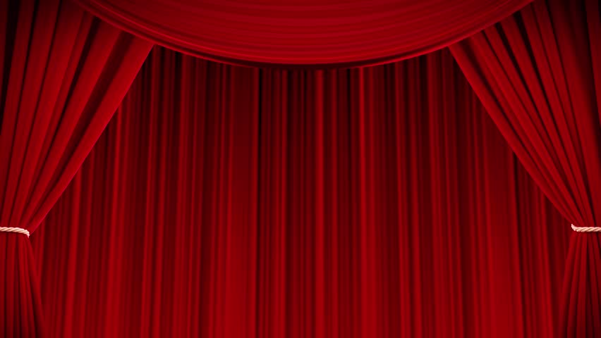 red curtains open and close stock footage video  100
