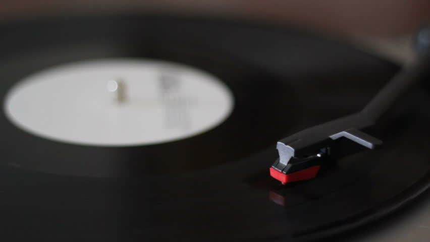 Playing A Vinyl Record On A Vintage Record Player  | Shutterstock HD Video #1009737125