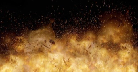 Realistic 4K Ground Explosions and Blasts. Visual Effects Element.