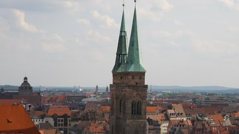 Panoramic view of Nuremberg, Germany.