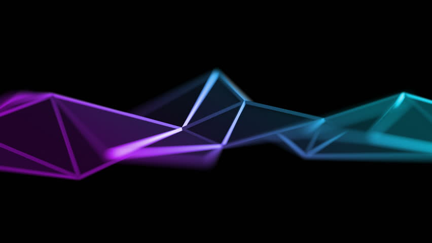 Abstract 3d rendering of geometric surface. Computer generated loop animation. Modern background with polygonal shape. Seamless motion design for poster, cover, branding, banner, placard. 4k UHD   Shutterstock HD Video #1009948595