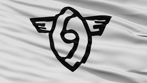 Yame close up flag, Fukuoka prefecture, realistic animation seamless loop - 10 seconds long