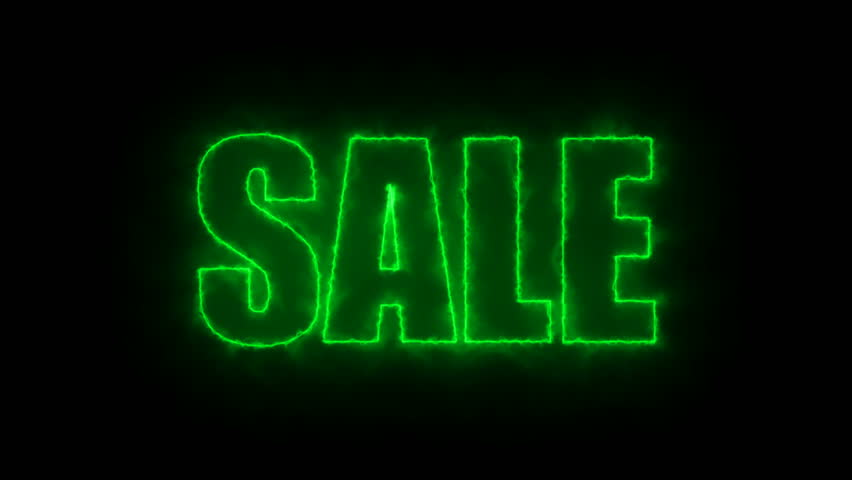 Letters of Sale text on black, 3d render background, computer generating for trading   Shutterstock HD Video #1009997765