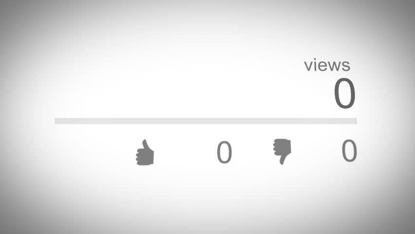 Social Media View Counter 02 Red   Shutterstock HD Video #1010012705