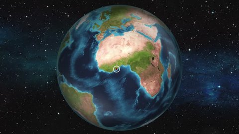 Earth Zoom In Map - Abidjan