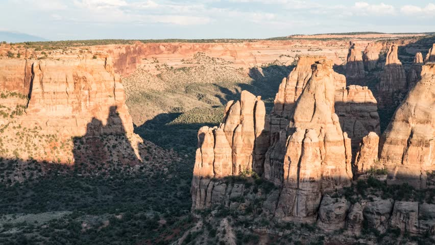 Time lapse clip of sunset at Colorado National Monument