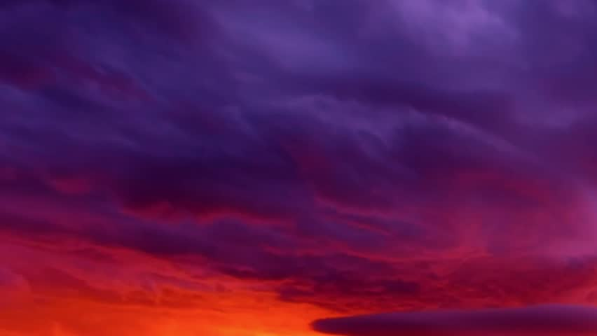 Cloud chenge colors in sunny day, orange,pink cloud, blue rain cloud in bad weather, Red purple orange blue pink sunset sky cloud Red purple cloudscape time lapse background. REAL 4K.