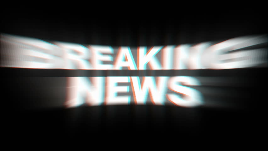 BREAKING NEWS Glitch Text Animation (3 Versions with Alpha Channel), Old Gaming Console Style, Rendering, Background, Loop, 4k