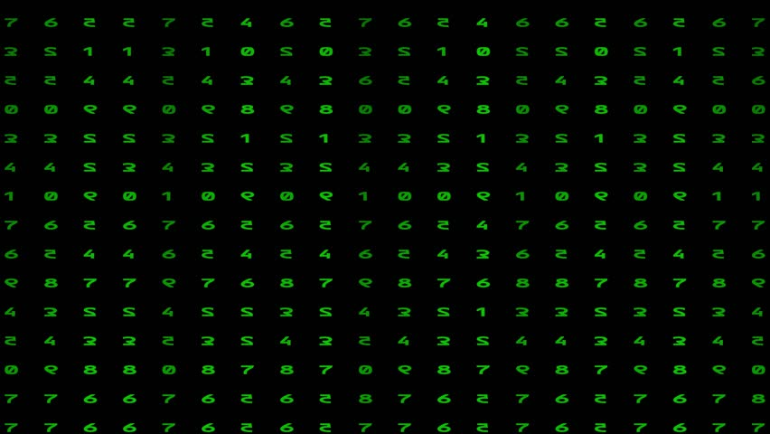 Animated numbers - digital rain. Green color code streams glowing on screen background. | Shutterstock HD Video #1010100305