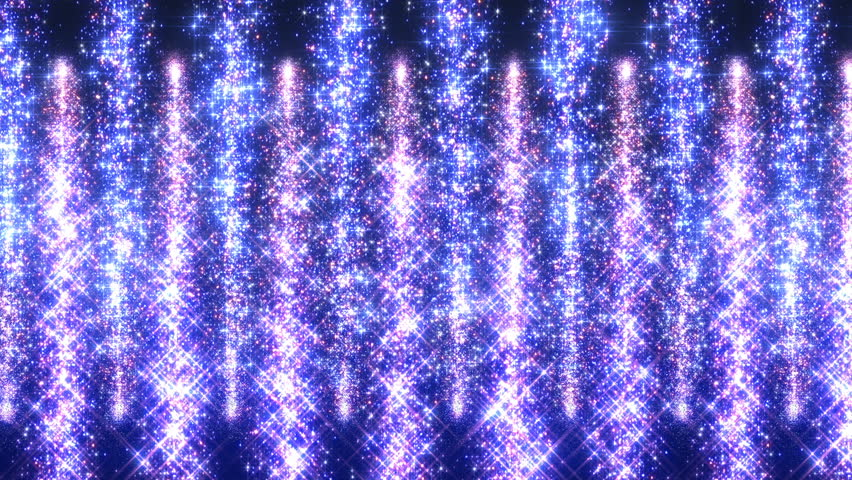 Star light waterfall fireworks particle