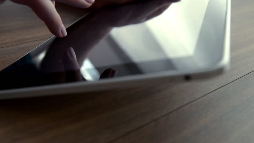 Using tablet computer close up | Shutterstock HD Video #1010180435