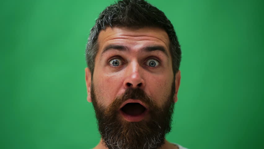 Male facial emotions. Bearded man with different expressions. Young man's portraits with different emotions and gestures. Handsome emotional man. Young man expressing different emotions.   Shutterstock HD Video #1010186585