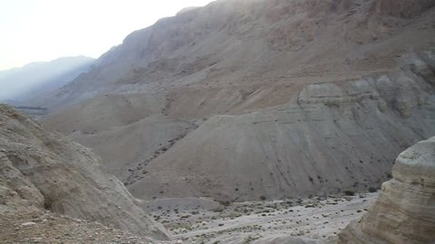 Cave 4Q of Qumran near the Dead Sea where two thirds of the famous Qumran scrools were discovered