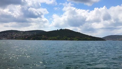 Istanbul islands from the ferryboat on the marmara sea