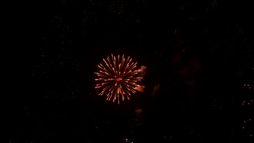 The fireworks in the night sky   Shutterstock HD Video #1010394545