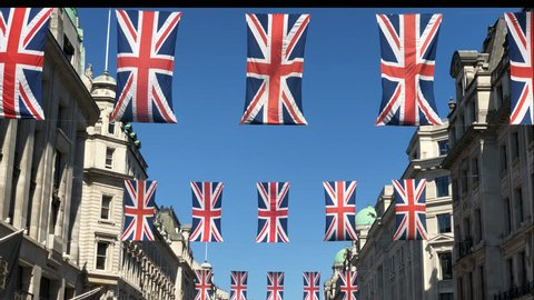 London Regent street Flags, Union Jack Flag, Royal Wedding, British Flag,