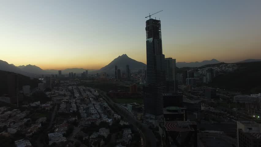 Monterrey Skyline Edificios Night Noche